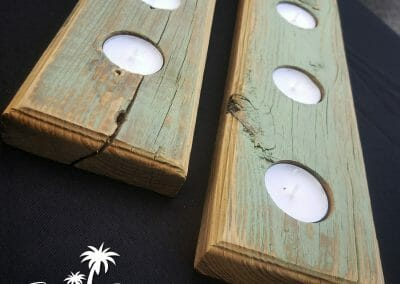 2x4 Candle Holders Painted