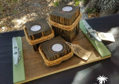 Candle Holders and Tray
