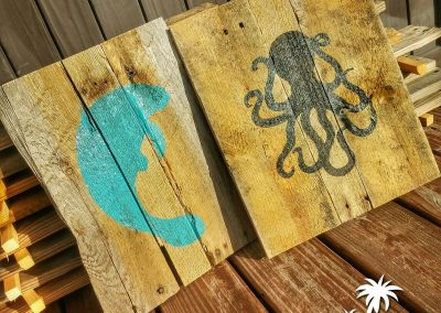Manatee and Octopus Signs