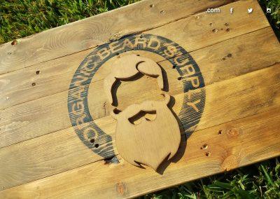 Organic Beard Supply Sign