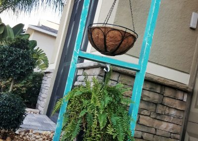 Plant Stand Double Teal