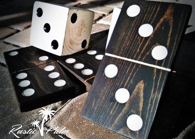 Yard Dominoes with Resin Pips